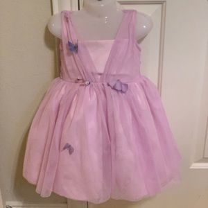 Ava and yelly toddler girl butterflies dress size3